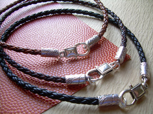 Leather Necklace - Premium Braided Leather with Lobster Clasp, Mens Necklace, Womens Necklace - Urban Survival Gear USA