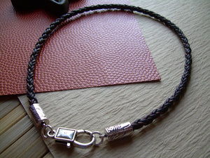 Premium Braided Leather Necklace, Mens Jewelry, Mens Necklace, Womens Necklace, Womens Jewelry, Leather Necklace, Leather Jewelry, Jewelry - Urban Survival Gear USA