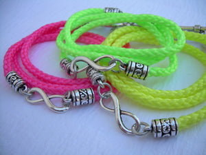 Neon Polly Cord Infinity Wrap Bracelet - Urban Survival Gear USA
