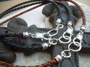 Leather Necklace, Infinity Necklace, Leather Infinity Necklace, Mens, Womens, Mens Necklace, Womens Necklace - Urban Survival Gear USA