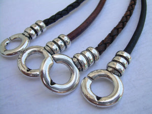 Leather Necklace, Infinity Necklace, Leather Infinity Necklace, Mens, Womens, Unisex, Mens Jewelry, Womens Jewelry - Urban Survival Gear USA