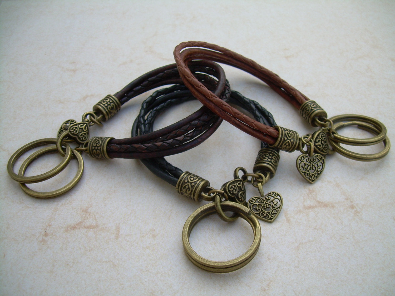 Womens Leather Bracelet and Valet Keychain 74bb2a3f0