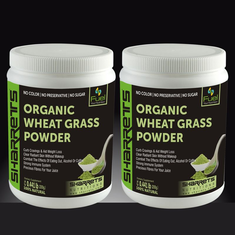 Buy halal certified organic wheat grass powder in India I