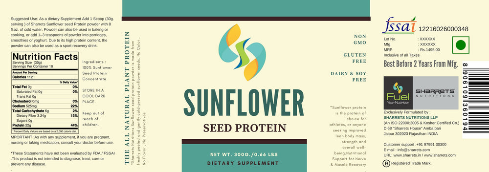 Sunflower seed protein concentrate - SHARRETS NUTRITIONS