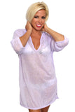Women's V-Neck Hoodie Beach Dress Cover-Up Made in the USA - Nova Bella
