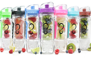 Fruit Infuser Water Bottle With Freezer Gel Ball - Nova Bella