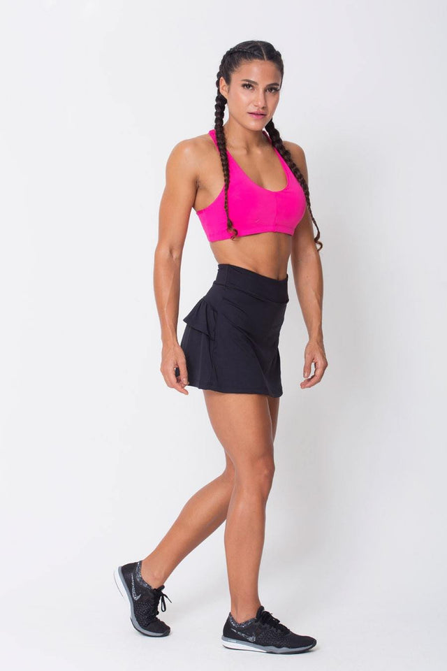 Black Ruffled Skort - Nova Bella