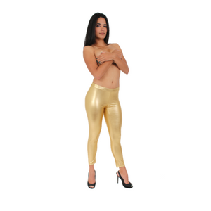 Metallic Leggings Pants - Nova Bella