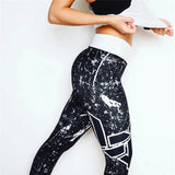 Sky Printed Yoga Skinny Workout Gym Leggings Fitness Sports Cropped Pants - Nova Bella