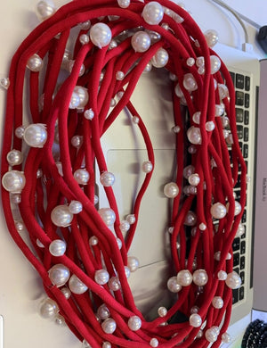 Red Multi Strand Pear Necklace