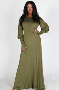 Monochromatic Maxi Dress - Elan of Eulalia