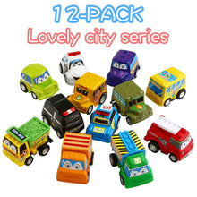 Load image into Gallery viewer, Wholesale 12 Pack Assorted Mini Plastic Vehicle Set, Funcorn Toys Pull Back Truck