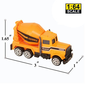 Wholesale 6 Pack Assorted Engineering Vehicles Set,Original Color Mini Model Construction Cars Toy