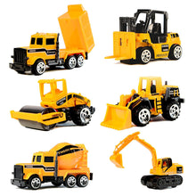 Load image into Gallery viewer, Wholesale 6 Pack Assorted Engineering Vehicles Set,Original Color Mini Model Construction Cars Toy