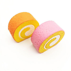 Wholesale Medium Egg Rolls Squishy Mix Colors - 8cm