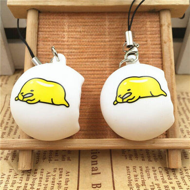 Wholesale Popular Small Phone Charm Lazy Egg Squishy - 10 Pack