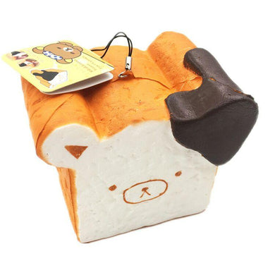 Wholesale Jumbo Rilakkuma Bear Toast Bread Squishy - 12cm