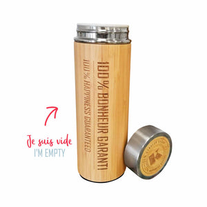 Bamboo insulated bottle - 1unit