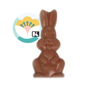 Belgian milk chocolate large rabbit plate 100g - 1unit