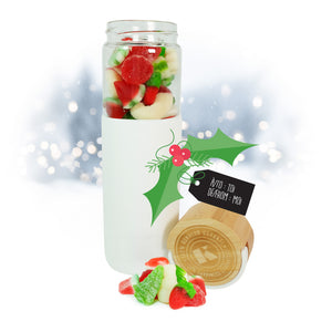 Christmas mix white bottle with bamboo lid - 450g