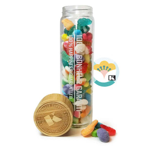 Large glass & bamboo bottle Easter mix 450 g - 1unit