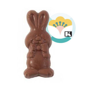 Belgian milk chocolate rabbit plate 30g - 1unit