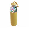 Sand silicone bottle with small bamboo lid filled with pastel Kisses - 400g