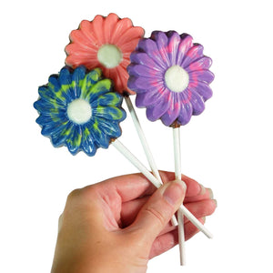 Trio chocolate flower lollipop - 3 units
