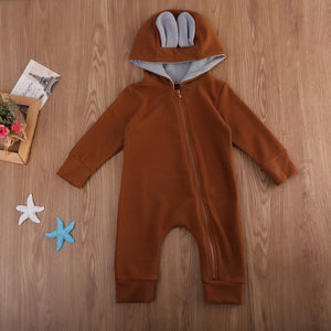 Deer Hooded Baby Romper