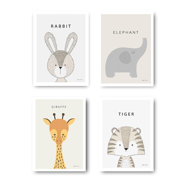 Animal Baby Room Wall Art