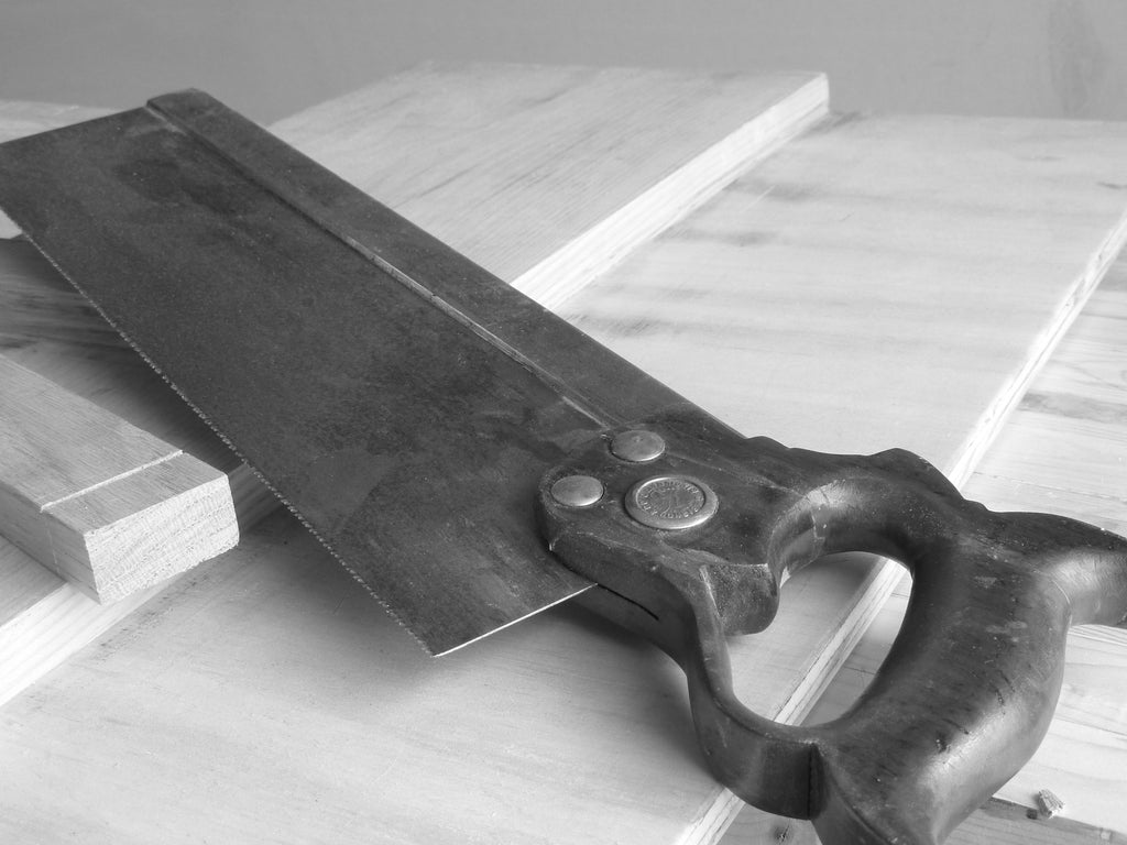 Tenon saw on a work bench