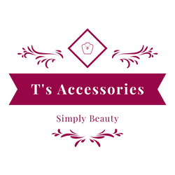 T's Accessories logo with picture of necklace and