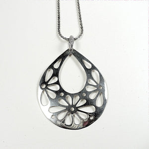 Sterling Silver Polished Openwork Pendant