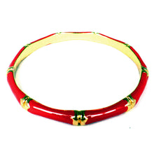 Red Epoxy Bamboo Bangle