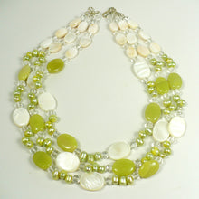 Jade and Mother of Pearl Layered Necklace Set