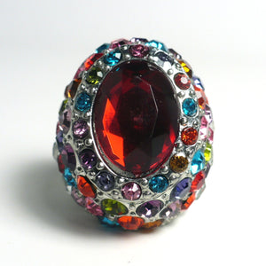 Fancy Multicolored Crystal Ring