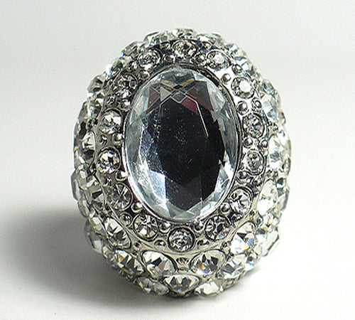 Fancy Crystal Encrusted Ring