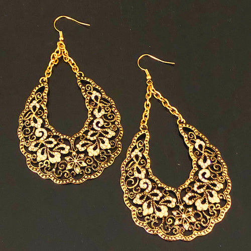 Filigree Statement Hoop Earrings