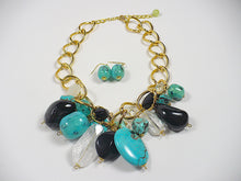 Turquoise Multi Beads Statement Necklace