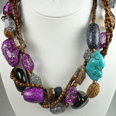 Layered Multi-Bead Necklace Set