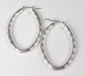 Textured Sterling Silver Hoop Earrings