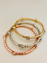 Tri-Tone 3 Piece Bangle Set