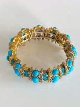 Blue Crystals and Stones Stretch Bracelet