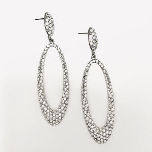 Pave Crystals Drop Earrings.
