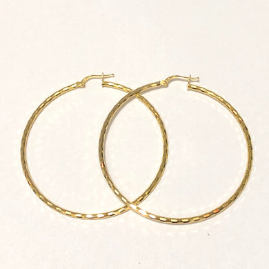 14K Gold Plated Sterling Silver Hoop Earrings