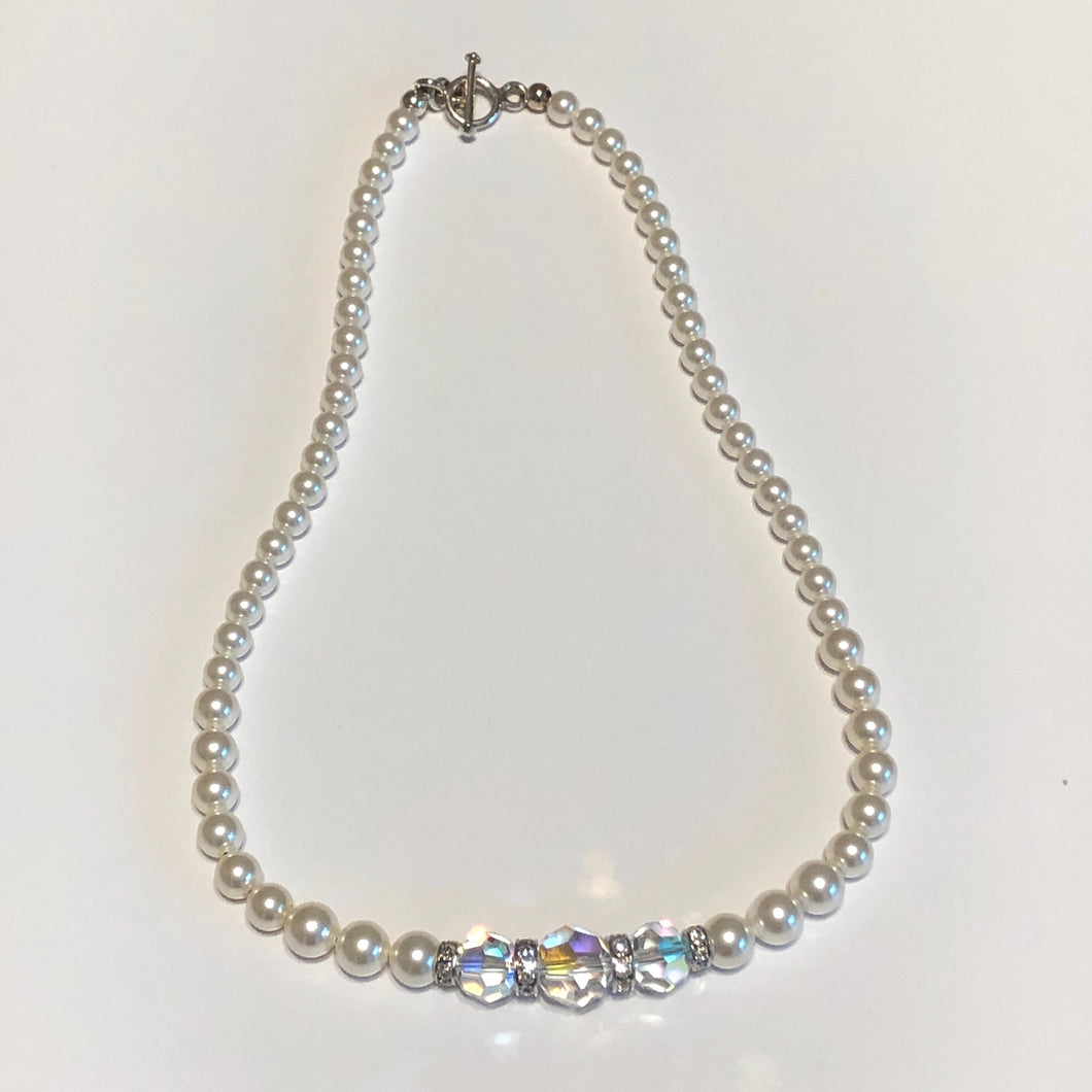 Swarovski Crystals and Pearls Necklace Set