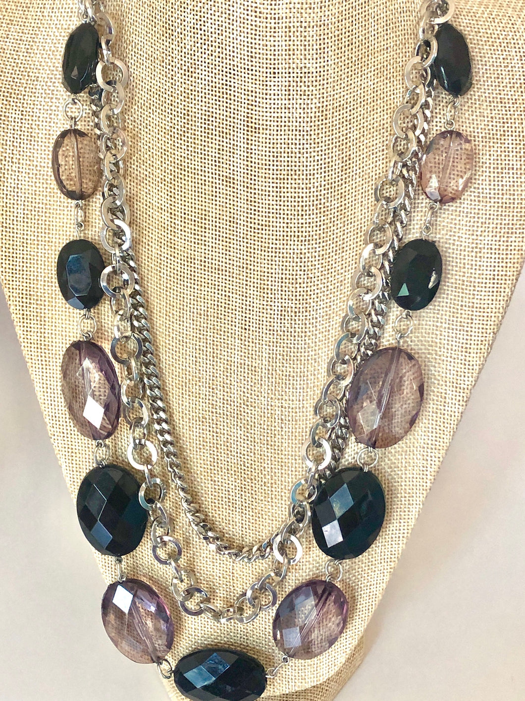 Beaded Multi-Chains Layered Necklace
