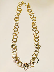 Two-Tone Mixed Links Statement Necklace