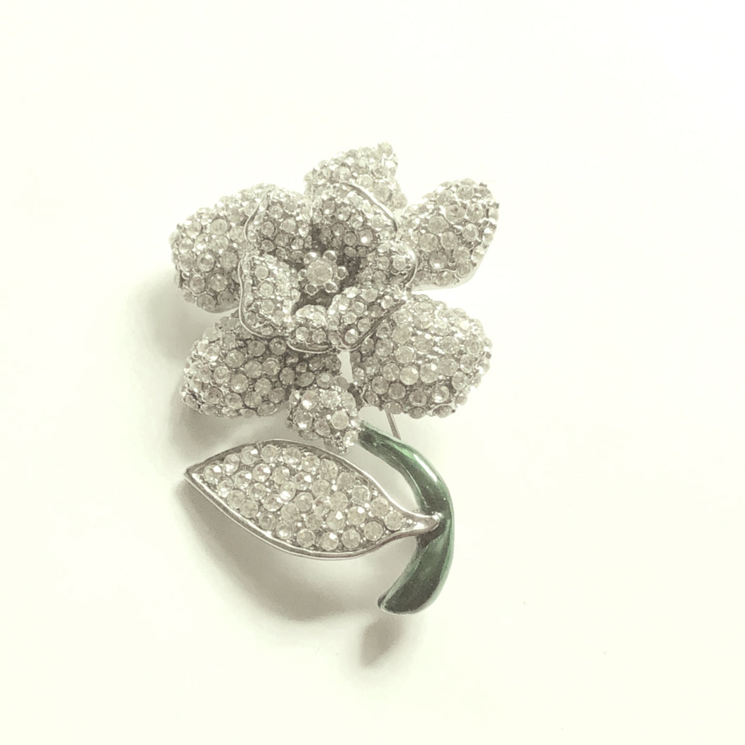 Pave Crystals Flower Pin