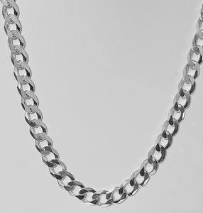 24 inch Italian Sterling Silver Curb Link 300 Chain